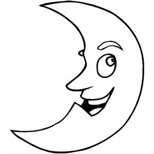 Smiling Moon coloring page