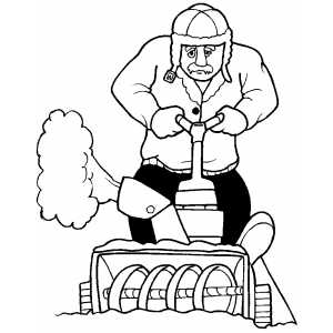 Snowblowing Machine coloring page