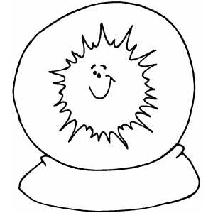 Sunny Forecast coloring page