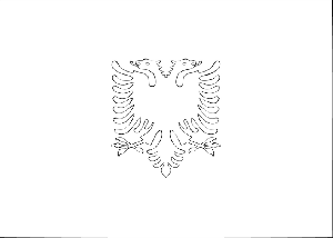Albania flag coloring page for Albanian flag coloring page