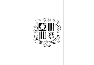 Andorra Flag coloring page