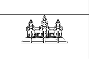 Cambodia Flag coloring page