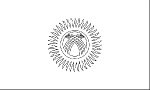 Kyrgyzstan Flag coloring page