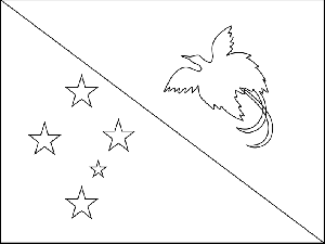papua new guinea flag coloring page