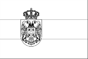 Serbia Flag coloring page