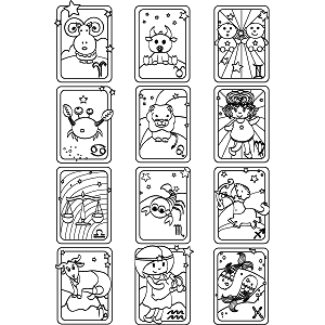 All signs zodiac coloring page for Chinese zodiac coloring page