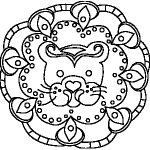 Ornate Leo Zodiac Coloring Page