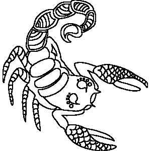 Ornate Scorpio Zodiac Coloring Page