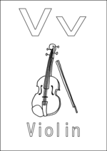 V is for Violin