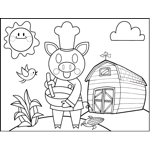 Chef Pig on Farm