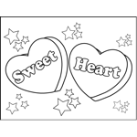 Valentines day coloring pages for Candy heart coloring pages